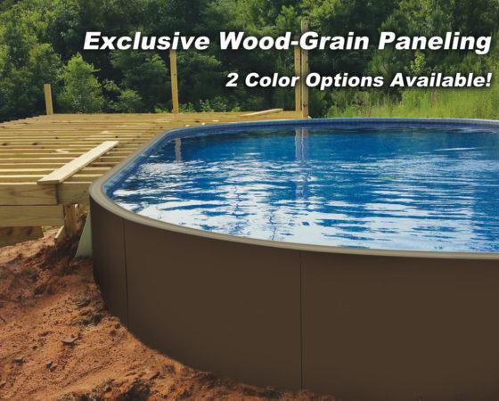 Indestructible Wood-Grained Pool Paneling