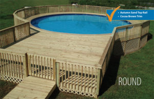 Design your custom semi on ground pool the funtastic pool for Obi easy pool